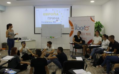 "Training for Peer Educators within the project ""Europe Talking"" held in Belgrade"